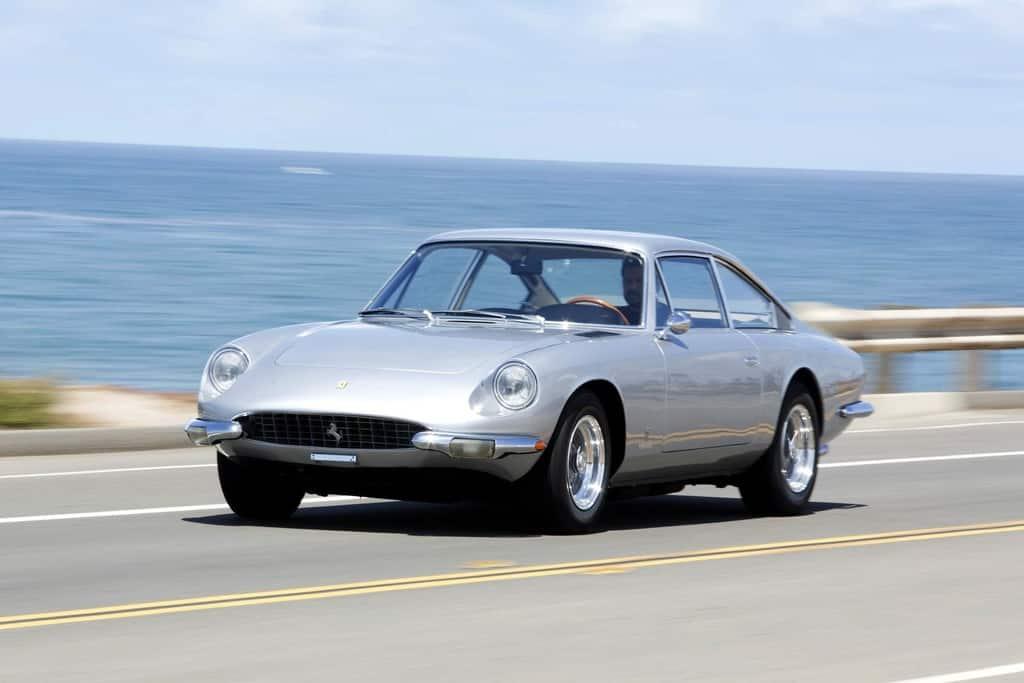 Silver Ferrari 365 GT