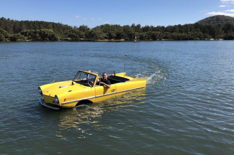 The 1966 Amphicar 770: The Only Functioning Land To Water Vehicle