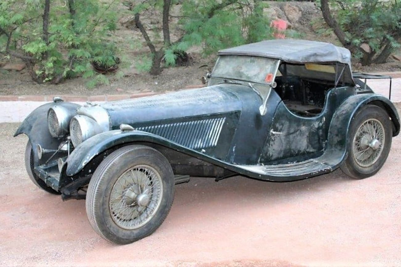 1938 SS-100 Jaguar recovered after 60 years