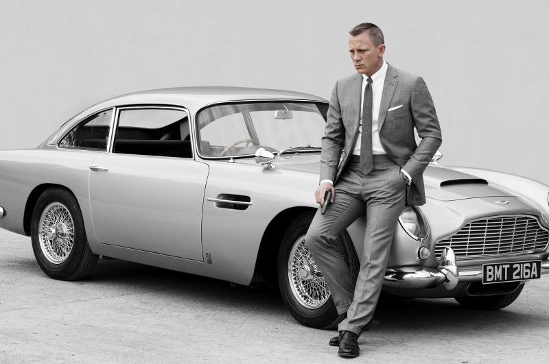 James Bond's Goldeneye DB5 Driving to Auction